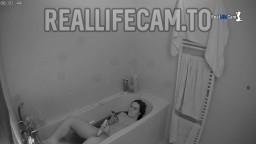 Mirukawa toybate in bathtub, July 4