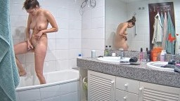 Martina shower and shave her pussy, Feb 15
