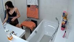 Malia quick shower and pick sexy underwear, Feb 26