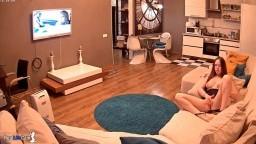 Leora masturbate on living room,Feb 27