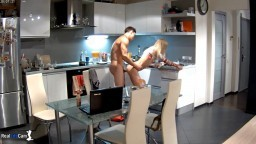 Nelly and Bogdan sex on kitchen and living room,Feb 27