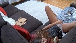 Leora late orgasm masturbate on sofa CAM2 P.O.V, Mar 9