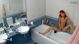Taylor toybate in bathroom, Sep 10