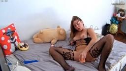Ginger masturbates in sexy lingerie, Nov 1