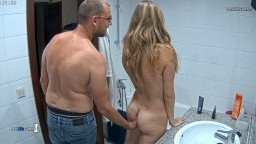 Alberto fingering Martina in bathroom, Nov 11