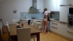 Maracuya and Eiden foreplay in kitchen before sex, Dec 26