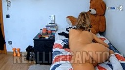 Radislava read book and showing off her hot holes, Feb 10