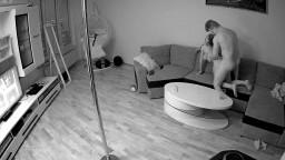 Linda and Tibor hard sex in living room, April 30